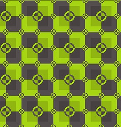 Circle-squares pattern in acid and brown colors vector
