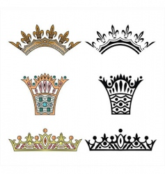 Collection crown vector