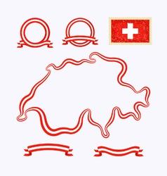 Colors of Switzerland vector
