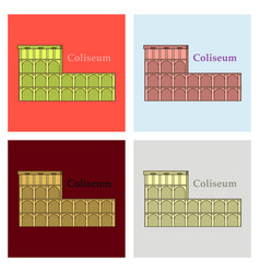 colosseum in italy icon in cartoon style isolated vector image