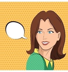 Comic woman says vector