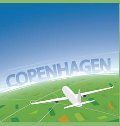 Copenhagen flight destination vector