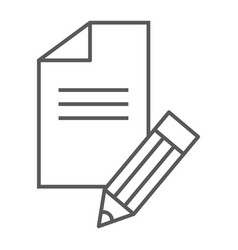 copywriting thin line icon blog and content vector image