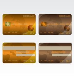 Credit card brown and orange vector image