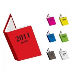 Diary 2011 vector