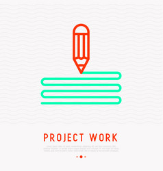 drawing pencil thin line icon symbol design vector image