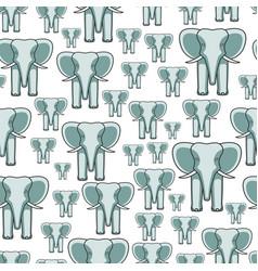 Elephant face seamless pattern vector