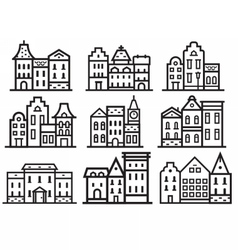 Europe Streets Icons vector