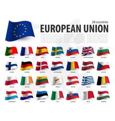 European union flag eu and membership vector