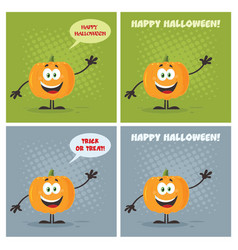 evil halloween pumpkin collection - 3 vector image