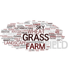 Field word cloud concept vector