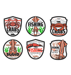 fishing fish seafood fishery market fisher club vector image