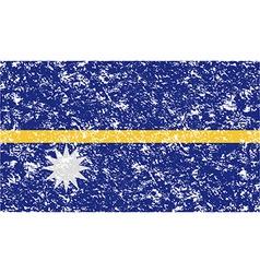Flag of Nauru with old texture vector image