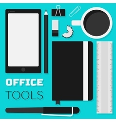 Flat design office tools vector