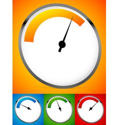 Gauge dial backgrounds low balanced high versions vector