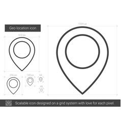 Geo location line icon vector