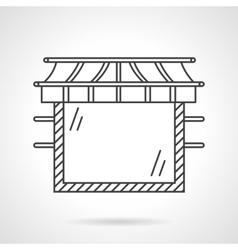 Glass showcase flat line design icon vector image