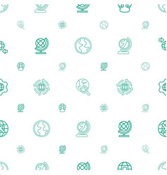 Globe icons pattern seamless white background vector