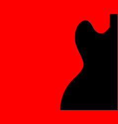 guitar half tone vector image