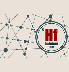 hafnium chemical element vector image