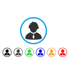 judge profession rounded icon vector image