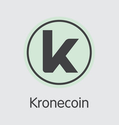 Kronecoin cryptographic currency krone vector