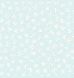 light blue and festive winter snowflakes stars vector image