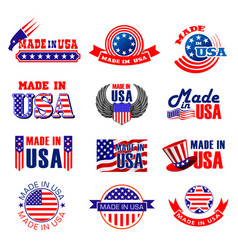 made in usa quality tags vector image