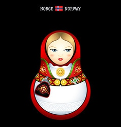 matryoshka norway vector image