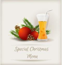 menu juice vector image