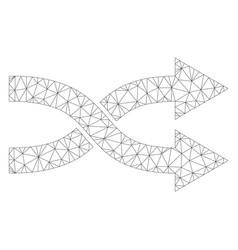 Mesh shuffle arrows right icon vector