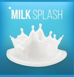 milk splash fresh flow abstract spiral vector image