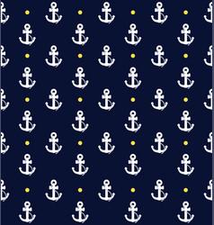 Navy blue anchor pattern vector