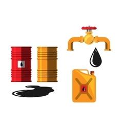 Oil barrel capacity crane vector