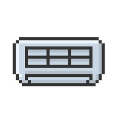 Outlined pixel icon air conditioner fully vector