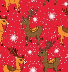 Pattern with deers on background vector