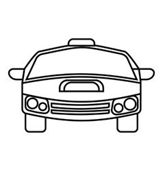 Race car icon outline style vector