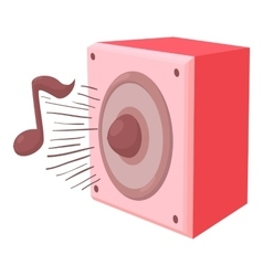 Radio icon cartoon style vector