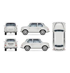 Realistic mini car mock-up vector