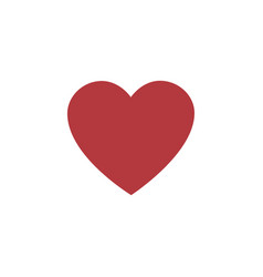 red heart icon on white background flat style vector image