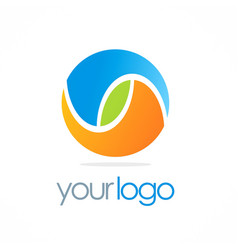 Round color ball eco logo vector