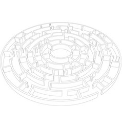 Round intricate labyrinth vector