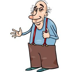 Senior grandfather cartoon vector