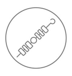 Shish kebab line icon vector image