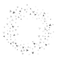 silver confetti triangle on a white background vector image