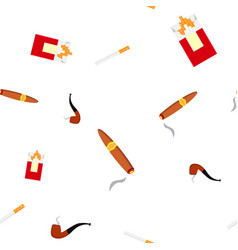 smoking pipe seamless pattern wind steam vector image