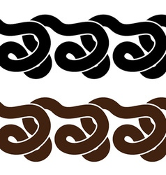 snake seamless silhouettes vector image