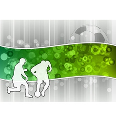 soccer in the green wave vector image