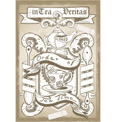 Vintage Coat of Arm for Bar or Restaurant vector