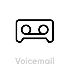 voice mail icon editable line vector image